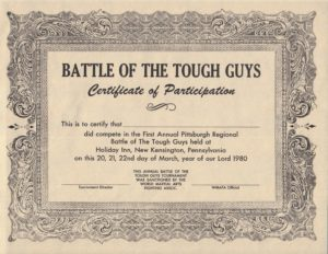 battle of tough guys