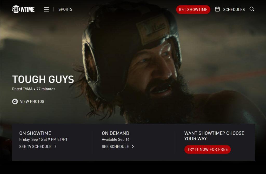 tough guys showtime